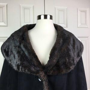 Lane Bryant Jackets & Coats - Lane Bryant Faux Suede & Fur Coat Size 26/28